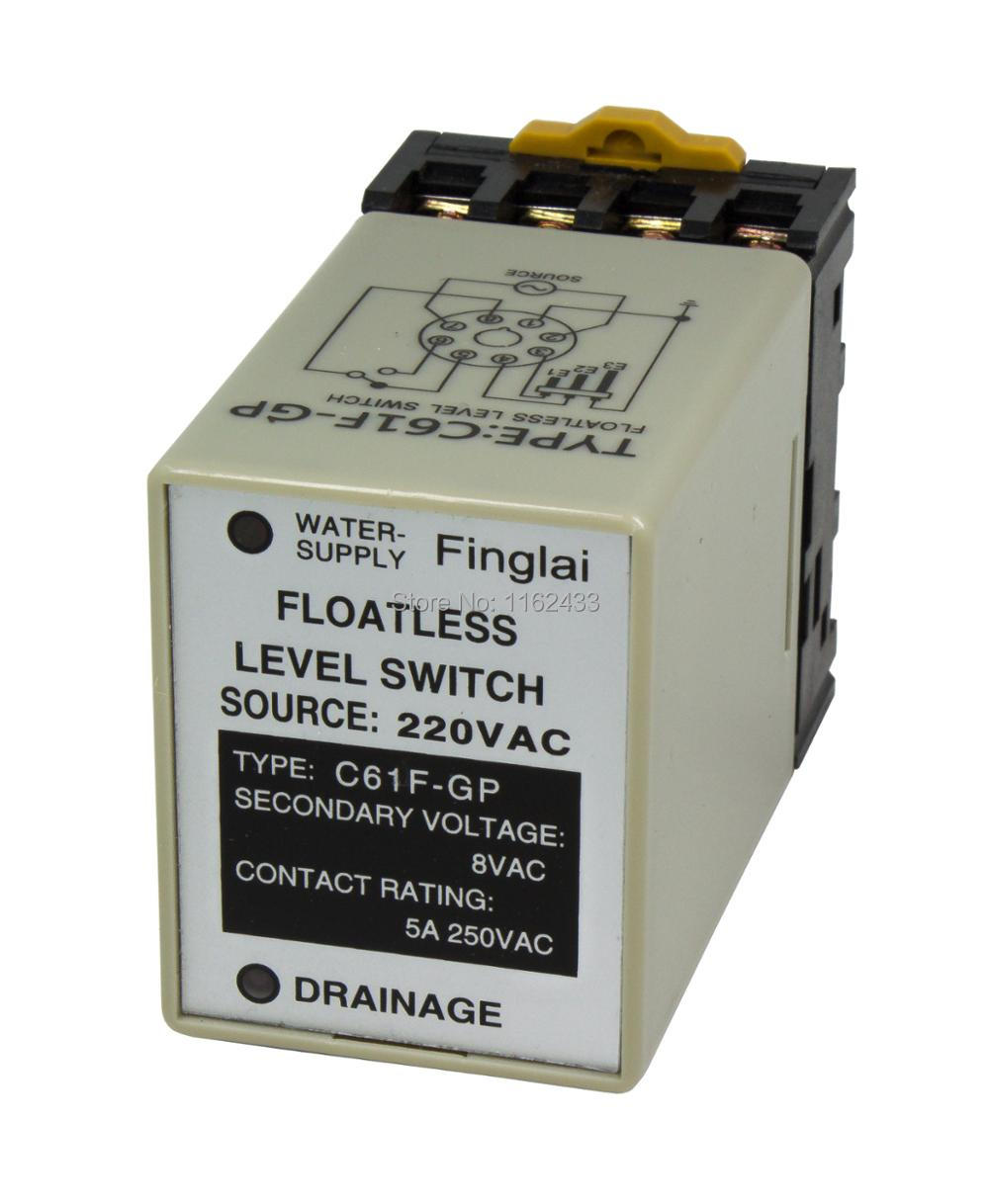 C61f Gp Ac 220v Floatless Level Switch    Relay With Socket