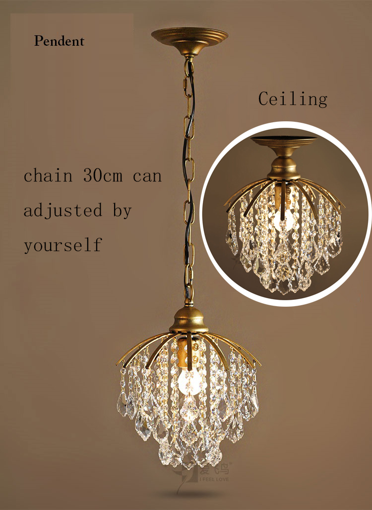 Modern K9 Candle Crystal aisle LED Elegant ceiling Lamp Indoor Lighting Restaurant Decoration Celling Corridor Balcony