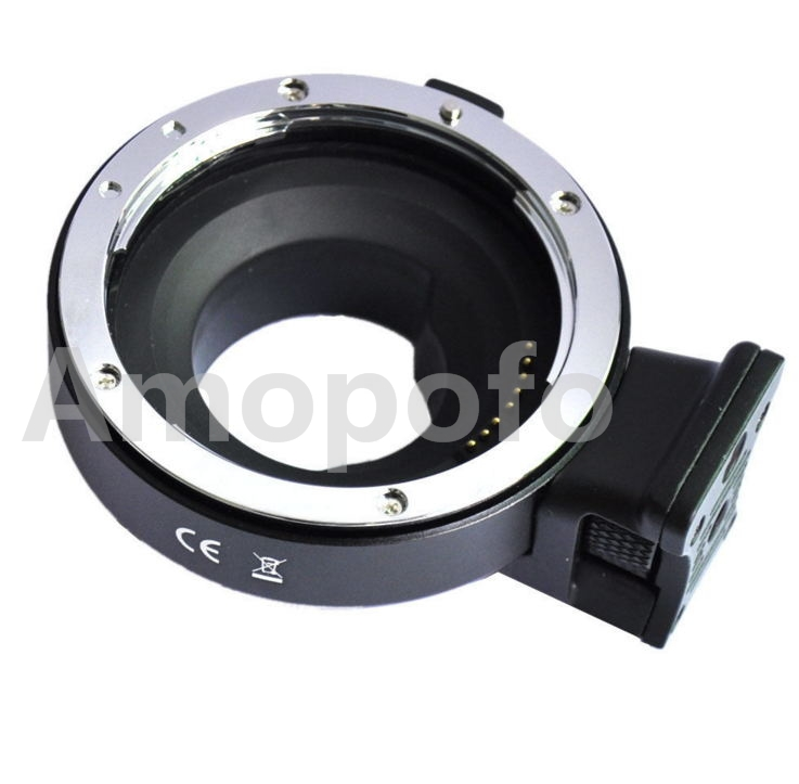 Amopofo, Aperture Control Lens Mount Adapter for EF/EF-S Lens to M4/3 for Panasonic and For Olympus camera. 35mm f1 7 cctv lens macro rings c m4 3 adapter ring set for olympus panasonic silver