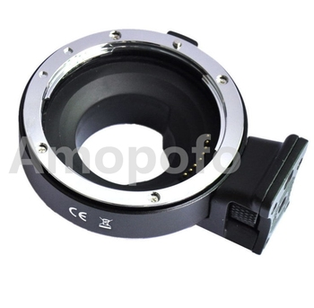 Amopofo, Aperture Control Lens Mount Adapter for EF/EF-S Lens to M4/3 for Panasonic and For Olympus camera.
