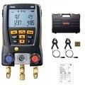 Testo 550 Kälte Manometer Digitale Verteiler Kit 0563 1550 Mit 2 stücke Klemme Sonden Elektronische Kältemittel Meter Set