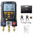 Testo 550 Koeling Manometer Digitale Manifold Kit 0563 1550 Met 2 pcs Klem Probes Elektronische Koelmiddel Meter Set