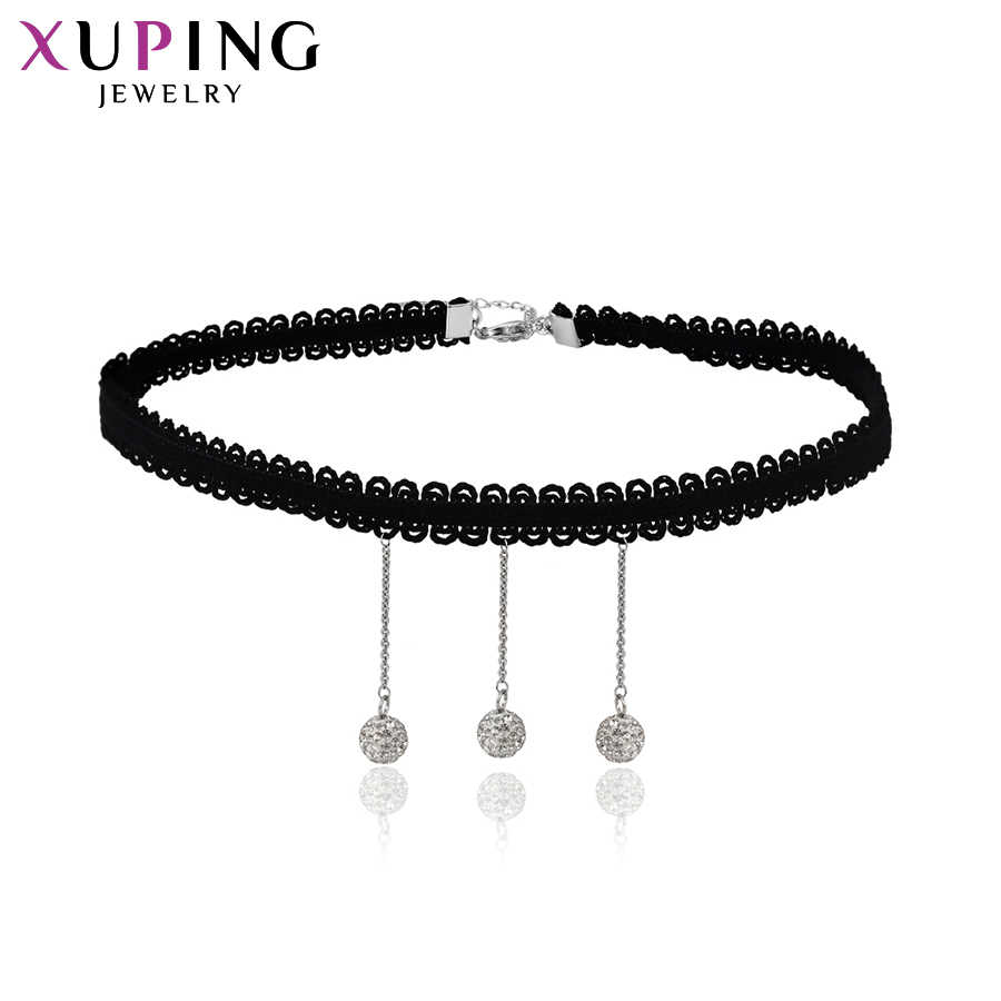 Xuping Fashion Lace Choker Necklace With Environmental Copper Jewelry for Women Christmas Day Gifts S65-43714