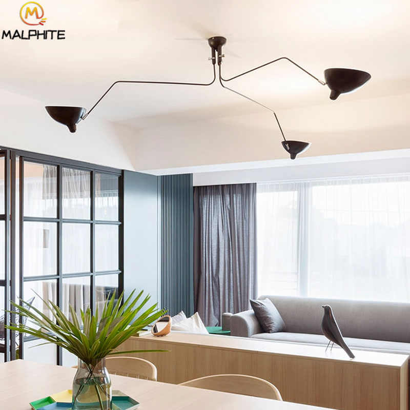 Современная люстра, освещение в скандинавском стиле, несколько головок, ретро лампы для гостиной, люстры, потолочные светильники для ресторанов, декоративные светильники, светильник - 3