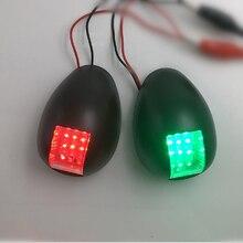 1 çift Kırmızı Yeşil led gösterge lambası navigasyon ışığı 12 V tekne Yat Kırmızı Yeşil Portu Starboard Işık