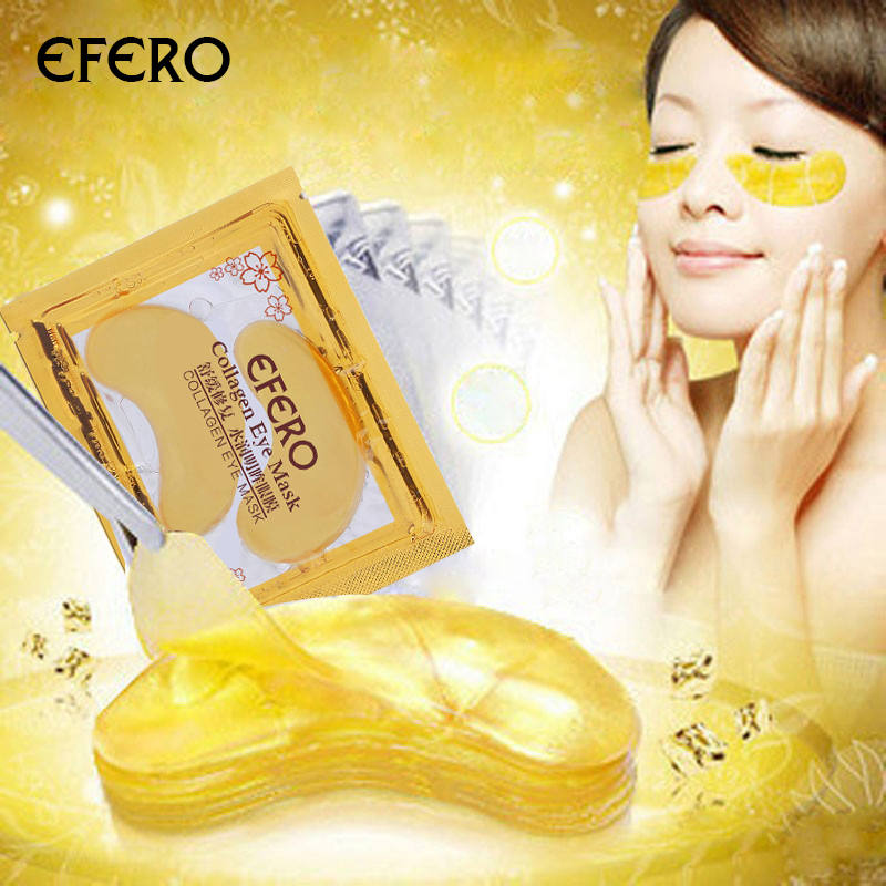 efero 10pc=5pack Gold Collagen Eye Mask Face Mask Eye Patches for the Eyes Crystal Anti-Wrinkle Dark Circle Anti-Puffiness Cream цена 2017