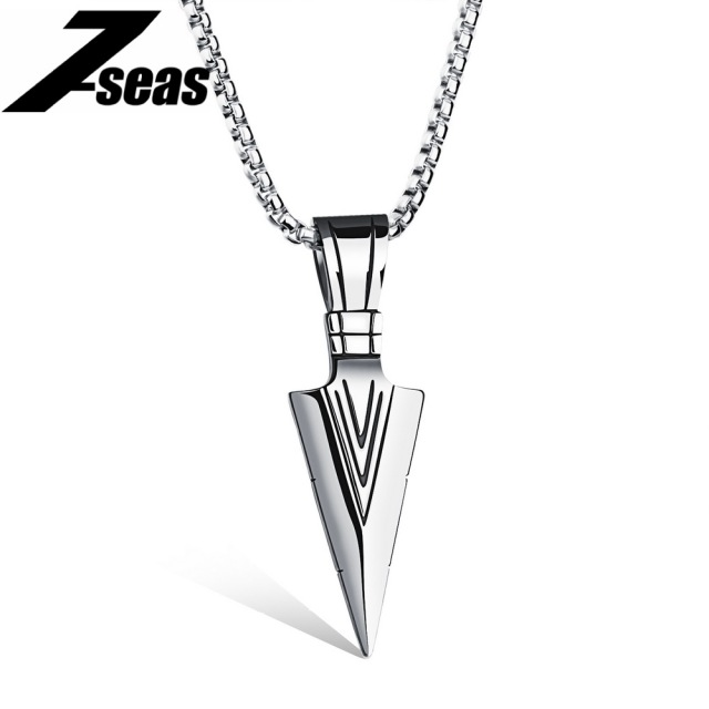 Punk style spearhead design pendants necklace for man fashion punk style spearhead design pendants necklace for man fashion stainless steel box chain jewelry men necklace aloadofball