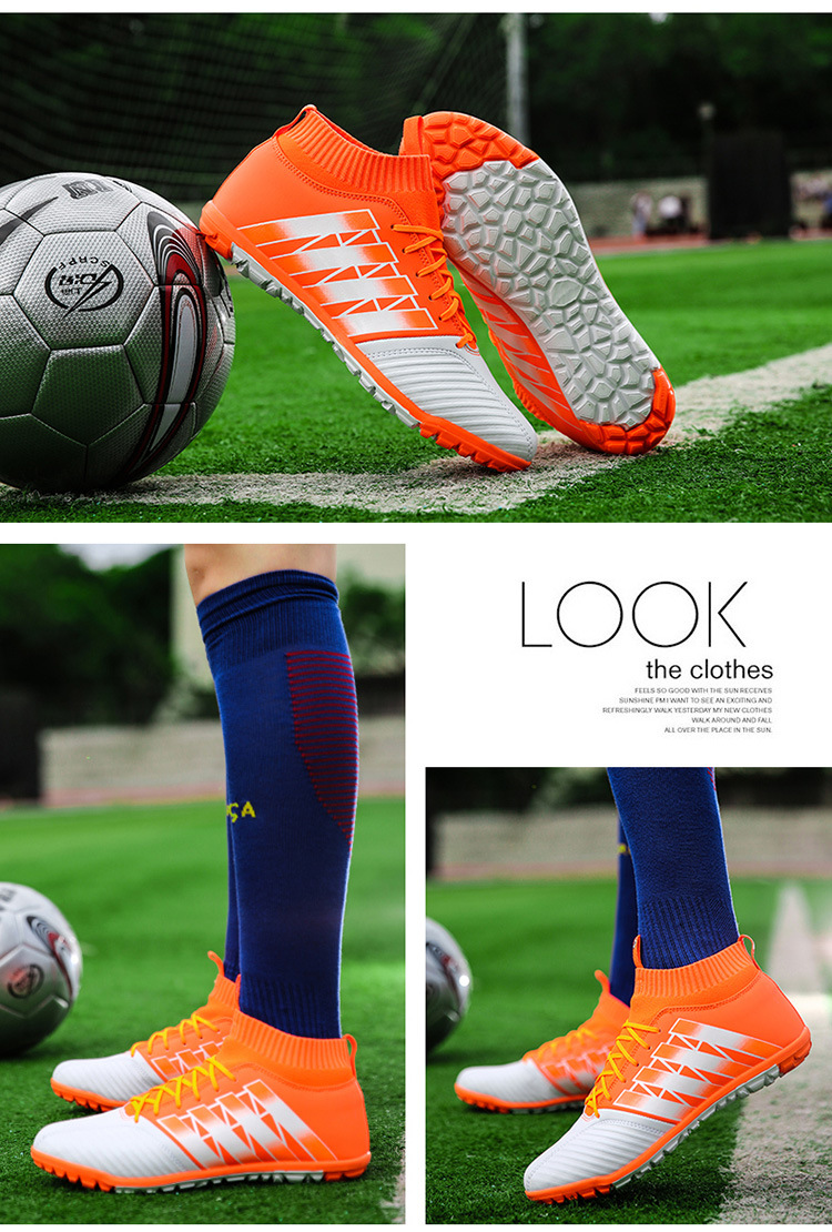 b4c46b67aa89f ... 2017 High Ankle Kids Football Boots Superfly Original Cheap Indoor  Soccer Shoes Cleats Boys Girls Sneakers
