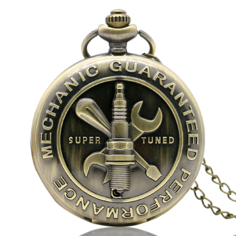 Relogio Feminino Retro Bronze Antique Mechanic Guaranteed Performance Them 3D Super Tuned Words Design Gift For Pocket Watch