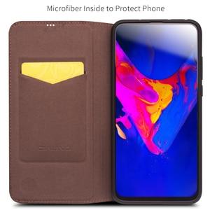 Image 2 - جراب هاتف من جلد طبيعي فاخر صناعة يدوية من QIALINO لهاتف Huawei Honor V20 جراب قلّاب فائق النحافة مع فتحة لبطاقة لهاتف Honor View 20