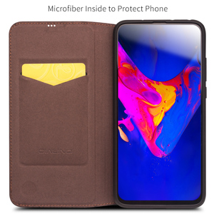 Image 2 - QIALINO funda de teléfono de cuero genuino hecha a mano para Huawei Honor V20, funda ultradelgada con ranura para tarjetas, Honor View 20