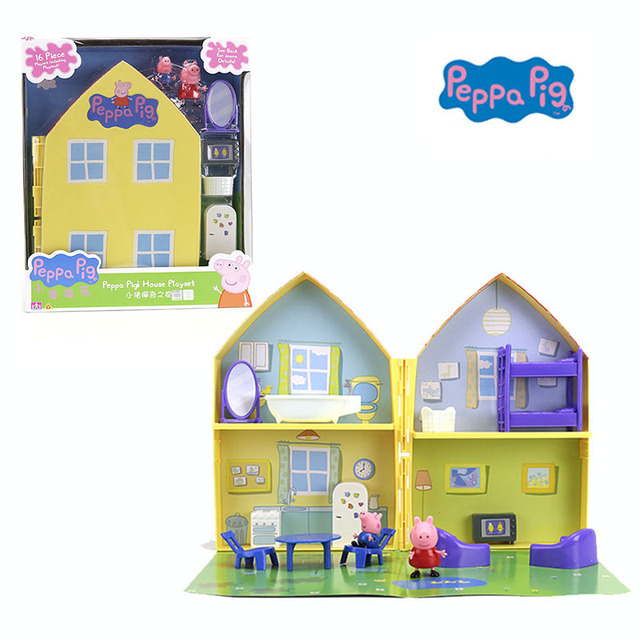 Us 23 03 36 Off 2018 New Genuine Peppa Pig Peppa Pig S House Playset With Peppa George Figure Kids Toy Children S Birthday Gift Hot Sale In Action