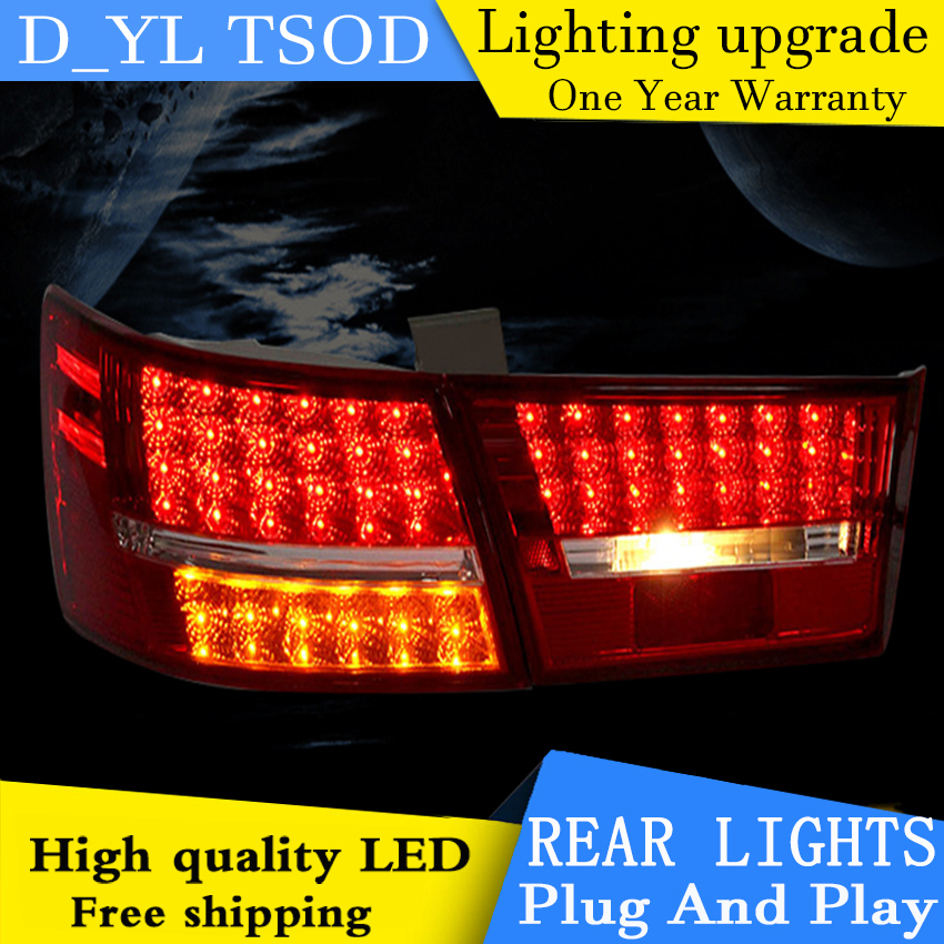 D YL Car Styling Accessories for Hyundai Sonata NF LED Taillights 2006 2013 Sonata NF Tail