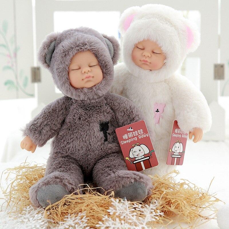 2018 Baby Dolls Stuffed Pvc Childrens 25cm Plush Toys For Girls Christmas Gift High Quality Bebe Doll Reborn Baby Born Toys