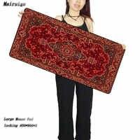 Mairuige sklep 90X40 CM czerwony dywan perski na laptopa w stylu spersonalizowany duży rozmiar podkładka pod mysz moda antypoślizgowa blokada krawędzi klawiatura