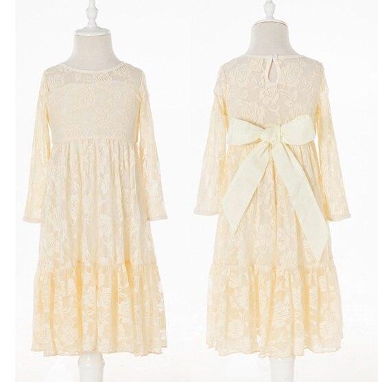 Ретро детская одежда Длинные рукава кружевное элегантное праздничное платье принцессы для девочек золотые платья летняя одежда для девоче...