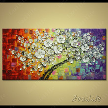 Flower Hand Painted palette knife 3D texture flower Hand Painted Canvas Oil Painting Wall Pictures For Living Room 2
