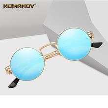 купить Round Frame Red Blue Brown Black Lens Sun Glasses Polarized Mirror Sunglasses Custom Made Myopia Minus Prescription Lens -1 To-6 по цене 1363.4 рублей