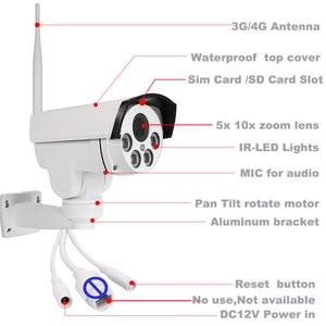 Image 2 - SONY CMOS 5x 10x זום האופטי PTZ מעקב 3G 4G SIM IP המצלמה WiFi HD MIFI עם זיכרון SD כרטיס מיקרופון