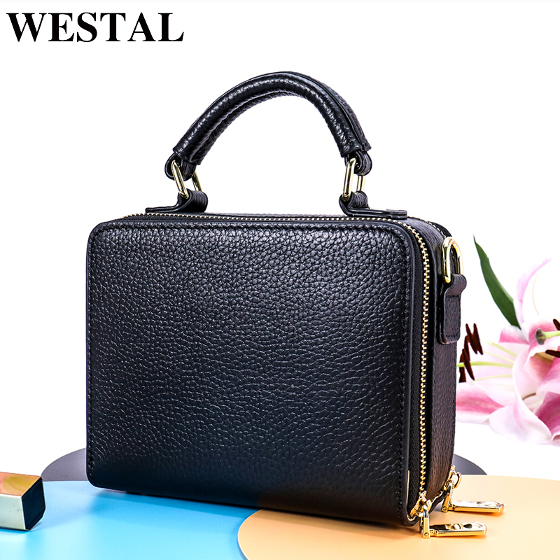 WESTAL Women Messenger Bags ladies Genuine Leather Luxury Handbags Women Bag Designer Bag Female Shoulder Crossbody Bags huayi 3x6m seamless brick wall wood floor backdrop photography backdrops photo background vinyl backdrop brick paper xt 6400