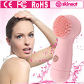 2017 Woman New Arrival SKINEAT Soft Electric Silicone Cleaning Skincare Comfort Deep Clean Facial Cleansing Pink White Black