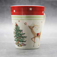 350 Ml Classic Christmas mug milk white Christmas Tree And Deer Mug New Year's Gift Home Coffee Mug Drinkware