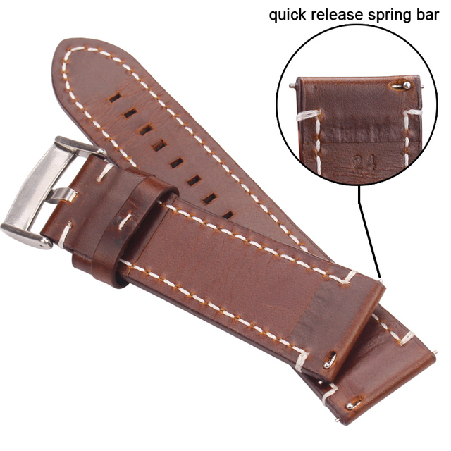Pin Buckle Genuine Leather Watchbands