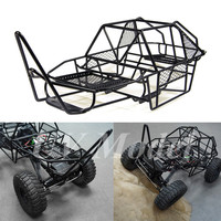 1 10 Scale RC Rock Car Xtra Speed V Steel Roll Cage Frame Body Black Chassis