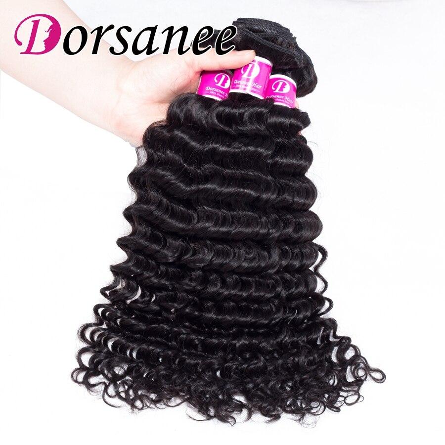 Dorsanee Deep Wave Peruvian Human Hair Bundles 4pcs 100g Hair Weaves No Tangle No Shedding Non Remy Hair Extension Free Shipping