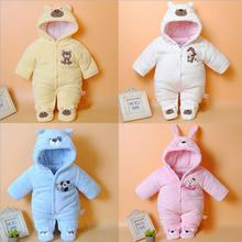 Autumn Winter baby thick cotton the climb clothes children Coral fleece thickening long-sleeved jumpsuits boys girls romper