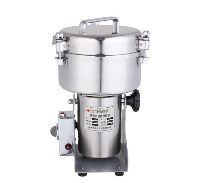 PYB-1500A (1500g) gyógyszer fűszernövény só rizs kávébab Kakaó kukorica paprika szója levél malom por daráló daráló gép
