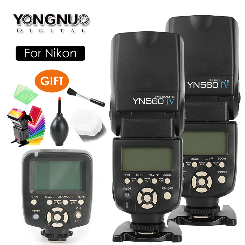 YONGNUO YN560 IV,YN-560 IV Master Radio Flash Speedlite + YN-560TX Controller for Nikon D3300 D5300 D7200 D810 D610 D800 Camera yongnuo yn 560 iv yn560 wireless ttl hss master radio flash speedlite 2pcs rf 605c rf605 lcd wireless trigger for canon camera