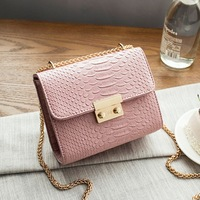 Perilla Women Crossbody Bag Alligator Leather Mini Small Alligator Crocodile Leather Bag Chain Women S Handbag