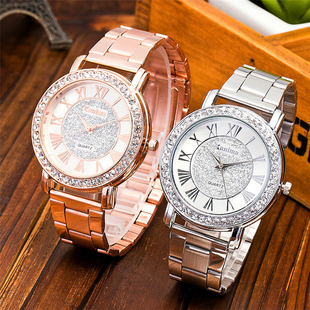Dropshipping Brand Watch Men Women Watches Luxury Gold Steel Lovers Quartz Watch