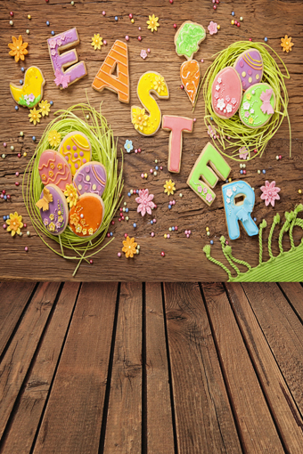 Strict 8x15ft Peru Wood Plank Wooden Floor Easter Eggs Nest Chicken Custom Photography Backgrounds Studio Backdrops Vinyl 8x12 10x20
