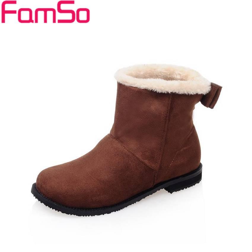 Plus Size34 43 2016 new Fashion font b Women b font Boots 5Colors Autumn Ankle Boots