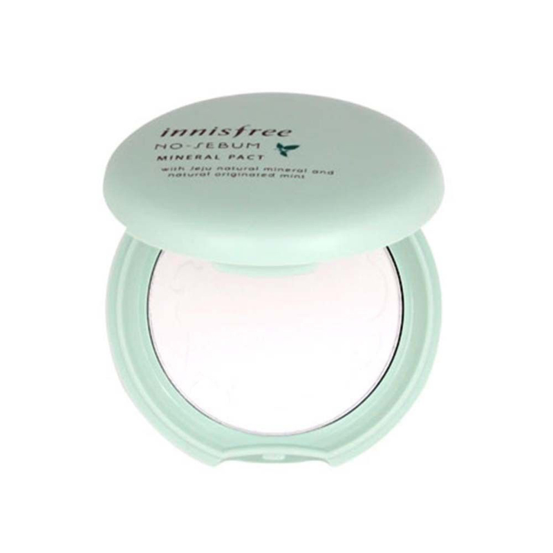 Korean Cosmetic No Sebum Mineral Pact 8.5g Concealer Foundation Oil Control Zero Face Powder Makeup Korean Cosmetics пудра на минеральной основе innisfree no sebum mineral pact