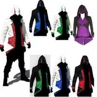 Anime character Harajuku cosplay assassin Connor jacket coat Sweatshirt Multiple colors costume Halloween makeup party costumes