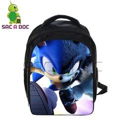 Sonic Super Mario plecaki Cartoon dzieci torba szkolna s dla chłopców dziewcząt Plecak studentów podstawowej dzieci torba szkolna Plecak Szkolny 2