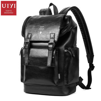 7e89a377a2 UIYI Fashion Women Backpack Men Traveling Backpacks PU Leather Vintage  Shoulder College School Laptop Large Bag Rucksack 170064