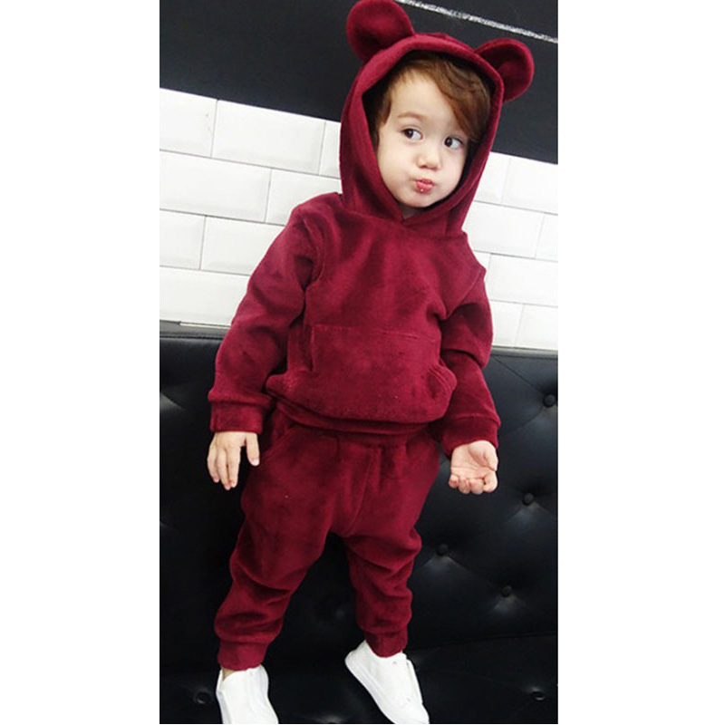 Girls Clothes Suit Hoodies+Pants Christmas Outfit