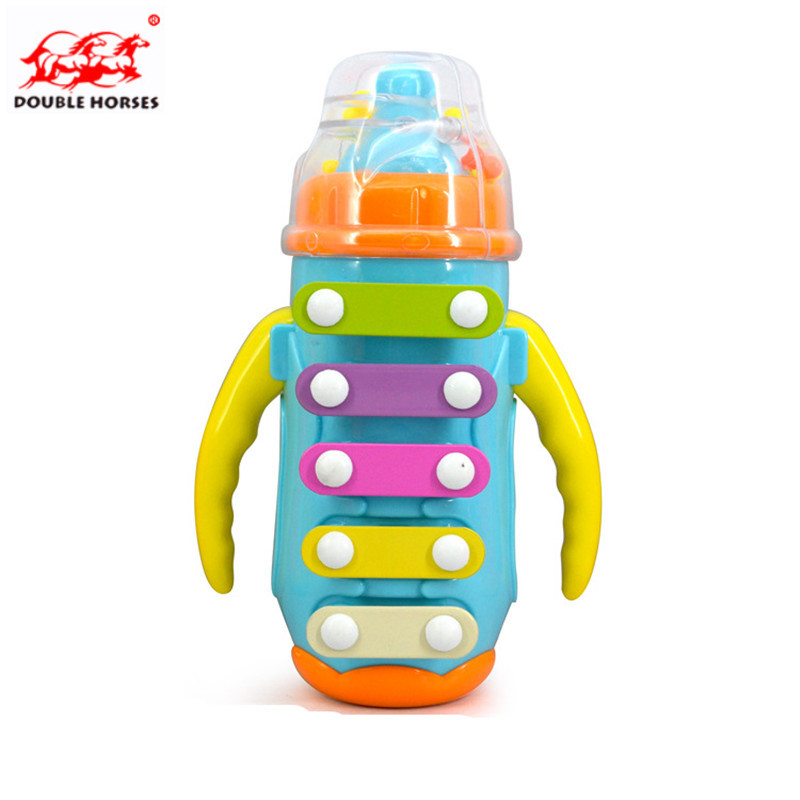 Amusing baby feeding bottles knock piano small toy early education plastic musical instruments Fun childrens educational toys