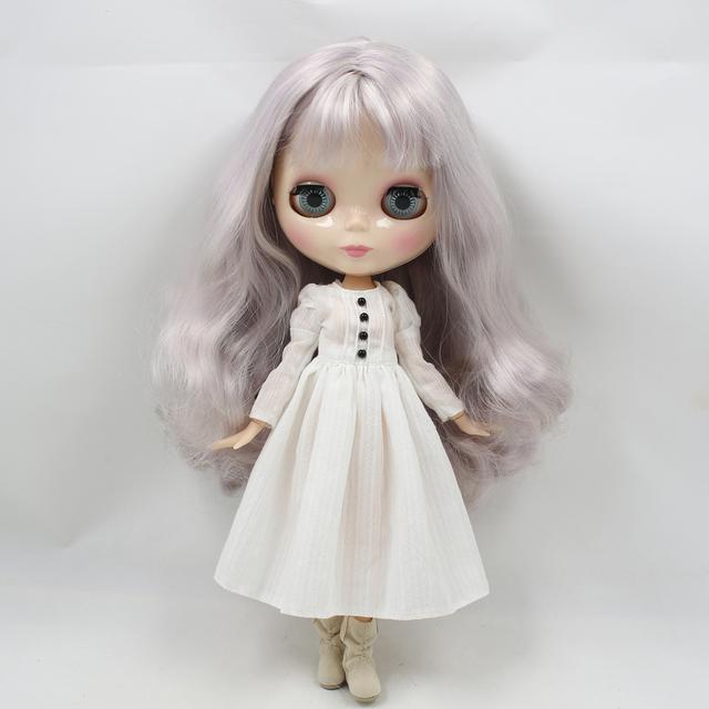 Blythe Doll White Dress for Neo Blythe
