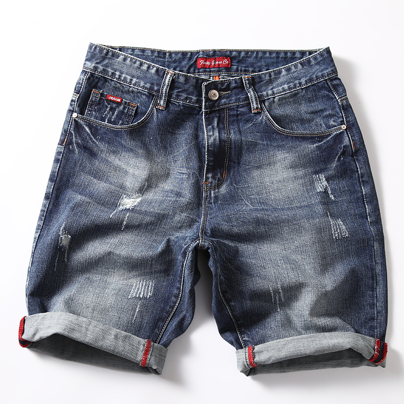 2019 summer new style thin straight loose large size denim shorts men's fashion casual cotton   jeans   28-40