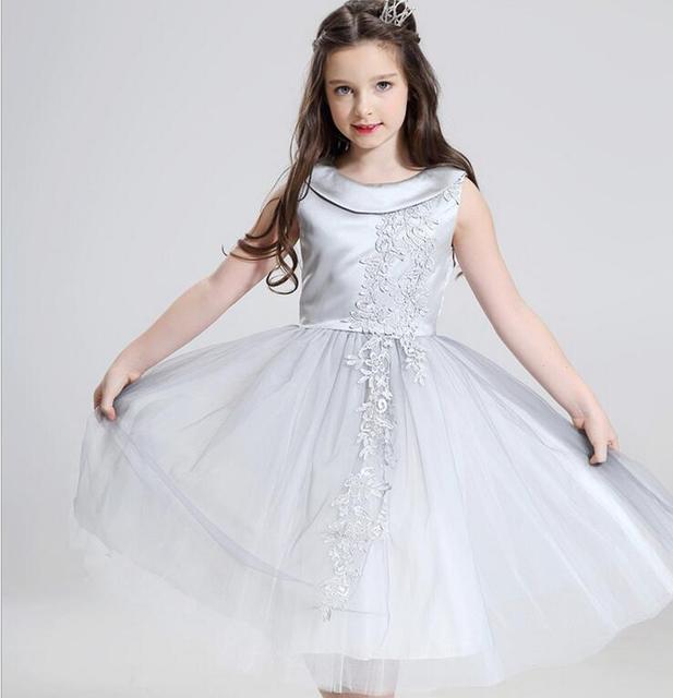 Glizt Silber Perlen erstkommunion Kleider Für Mädchen Pageant ...