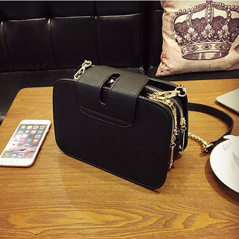 2020 Spring New Fashion Women Shoulder Bag Chain Strap Flap Designer Handbags Clutch Bag Ladies Messenger Bags With Metal Buckle 3