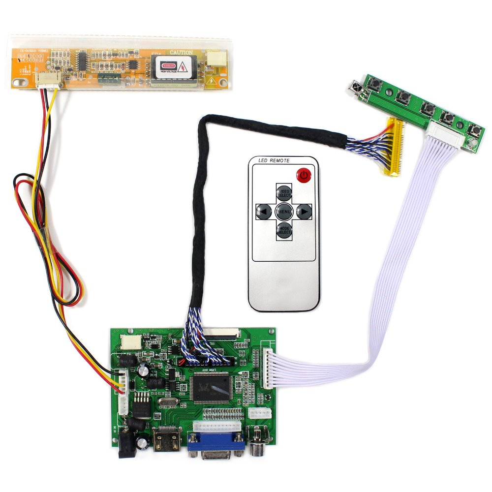 HDMI VGA 2AV Remote LCD Controller Board VS-TY2662-V1 Work For Lots of LCD Panel hdmi vga 2av reversing lcd controller driver board with 6 2inch 800x480 hsd062idw1 lcd panel