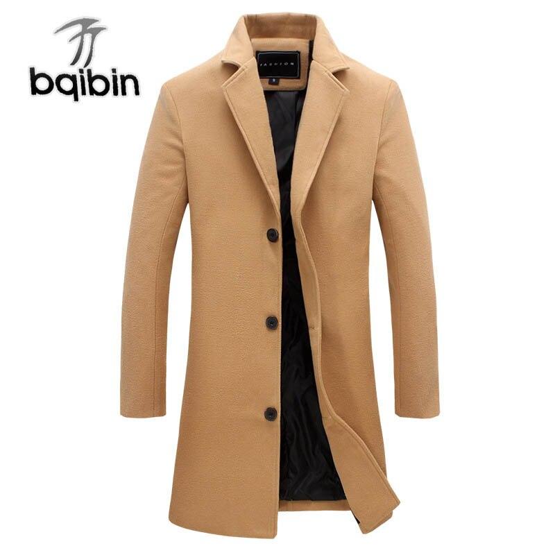 2018 Graben Mäntel Männer Herbst Winter Lange Casual Jacke Hohe Qualität Männer Mäntel Mode Graben Oberbekleidung 5xl Plus Größe SorgfäLtig AusgewäHlte Materialien