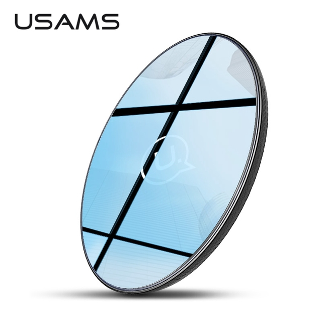 USAMS Wireless Charger for iPhone XS X 8 plus 10W Qi Charger Wireless Charging for Samsung Galaxy S9 S8 S7 Edge USB Charger Pad