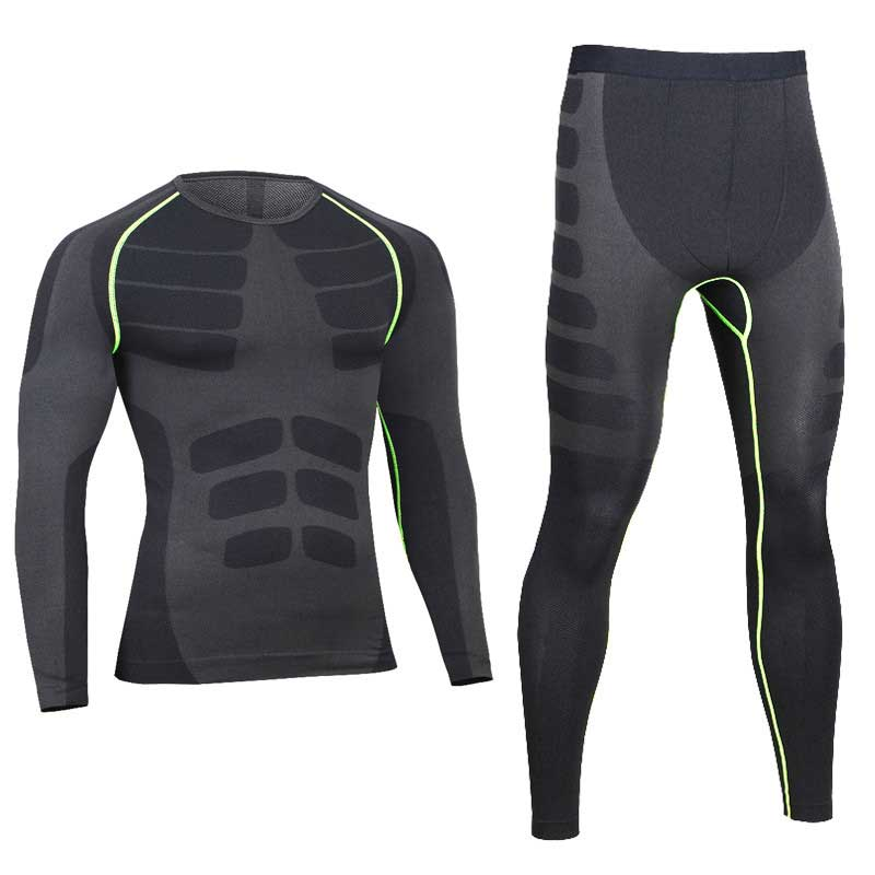 Running Sets Rapture Men Pro Compression Long Johns Fitness Quick Dry Gymming Male Shirts Tights Pants Sporting Runs Thermal Underwear Sets V0405